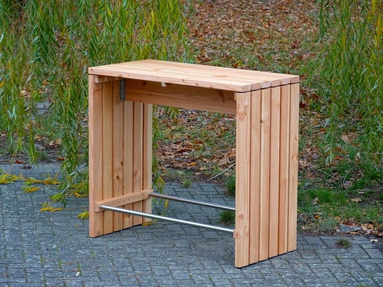 Stehtisch Aus Holzstamm.Stehtisch Bartisch Holz 120