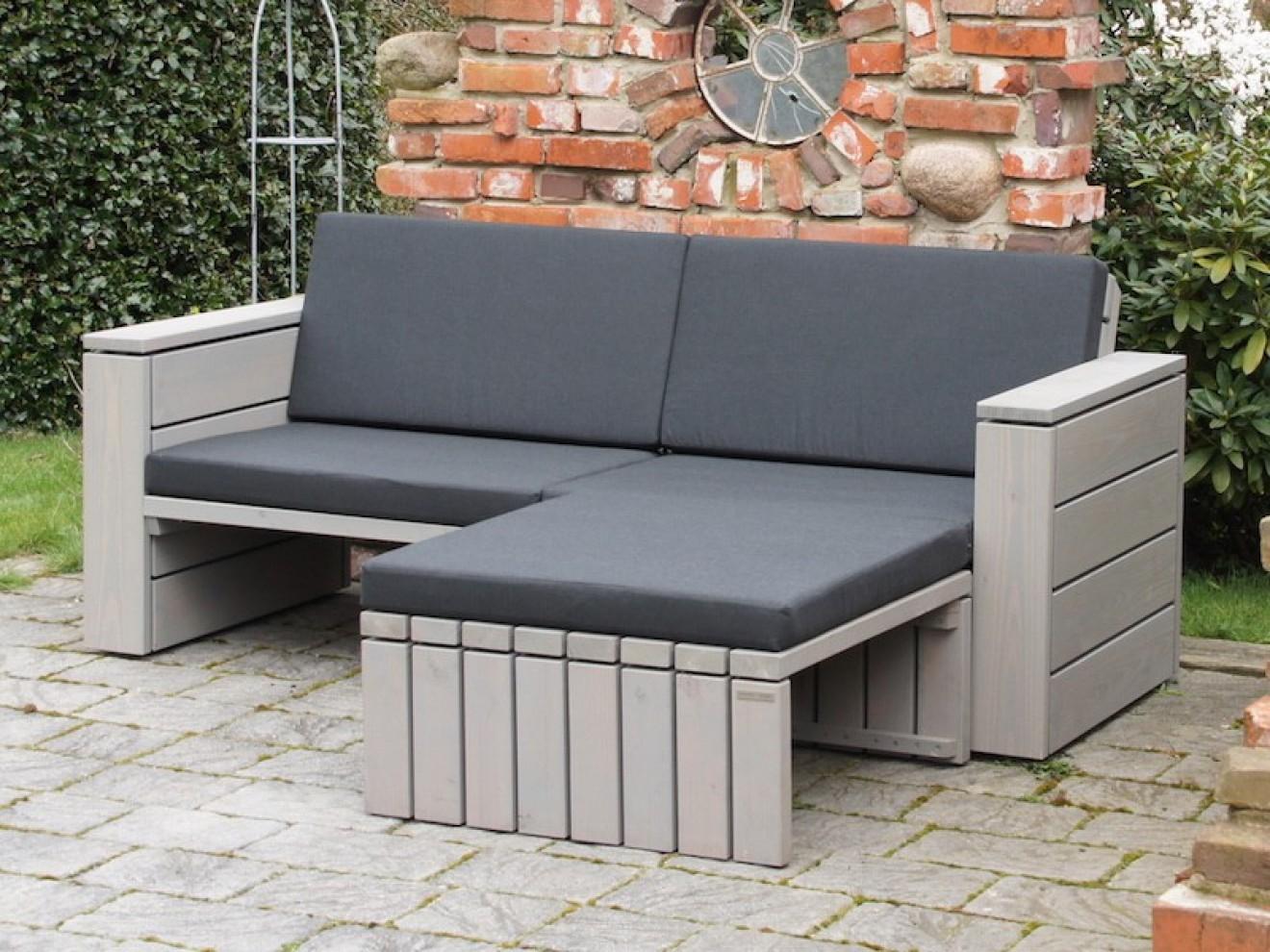 Lounge ecke zeitlose loungem bel aus heimischem holz for Lounge sessel holz outdoor