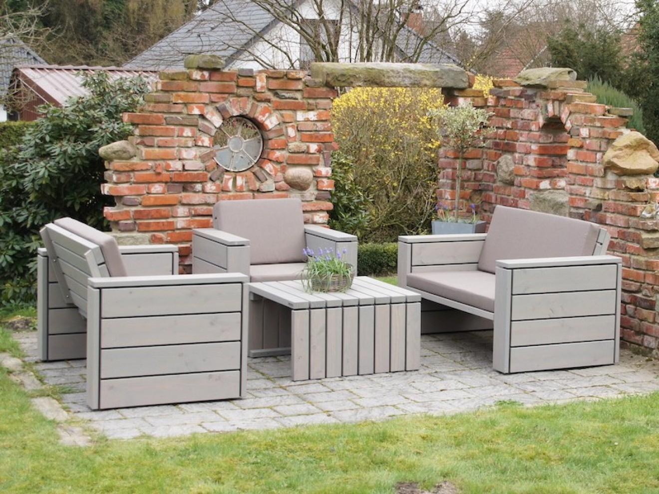 Lounge möbel holz  Loungemöbel Set 3 - Zeitlose Loungemöbel aus heimischem Holz