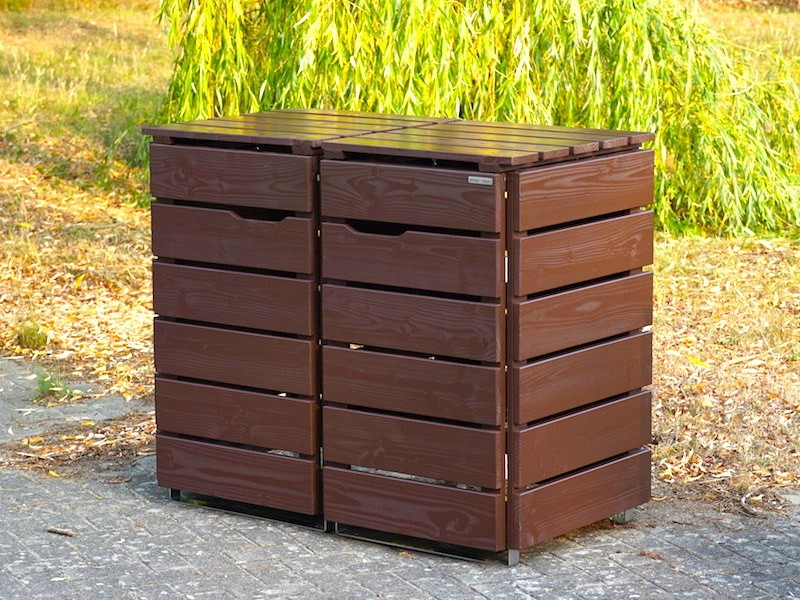 2er m lltonnenbox 240 liter heimisches holz made in germany. Black Bedroom Furniture Sets. Home Design Ideas