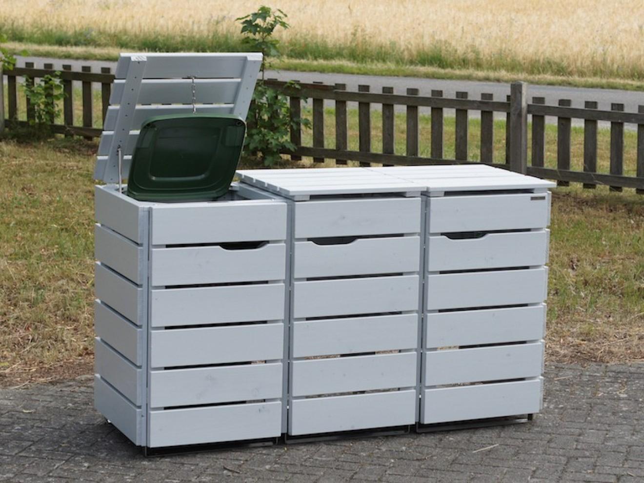 3er m lltonnenbox 240 liter heimisches holz made in germany. Black Bedroom Furniture Sets. Home Design Ideas
