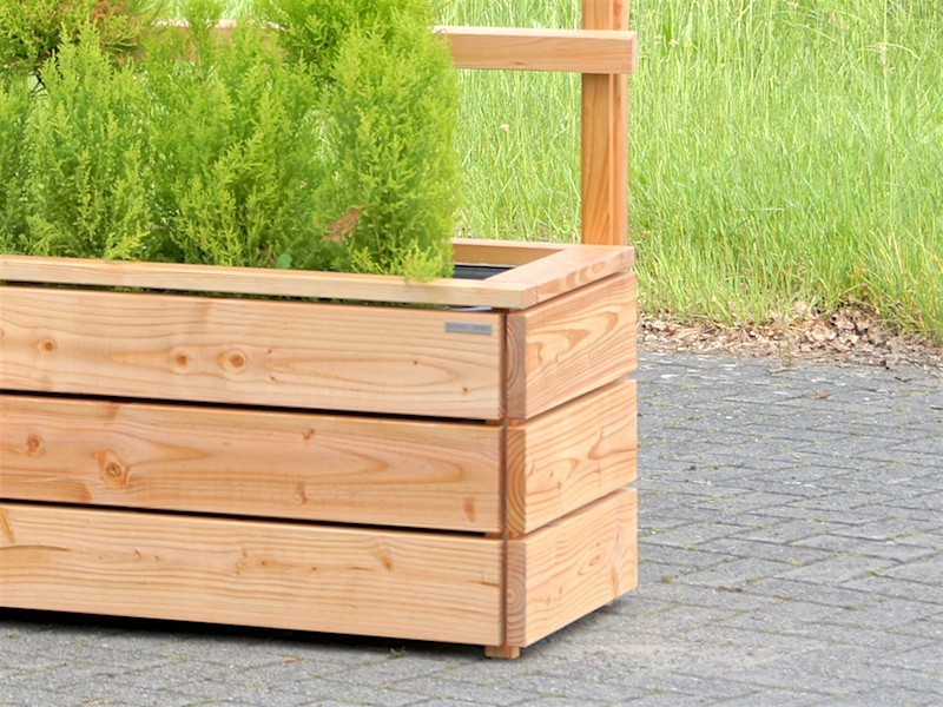 pflanzkasten ecke mit rankgitter heimisches holz made in germany. Black Bedroom Furniture Sets. Home Design Ideas