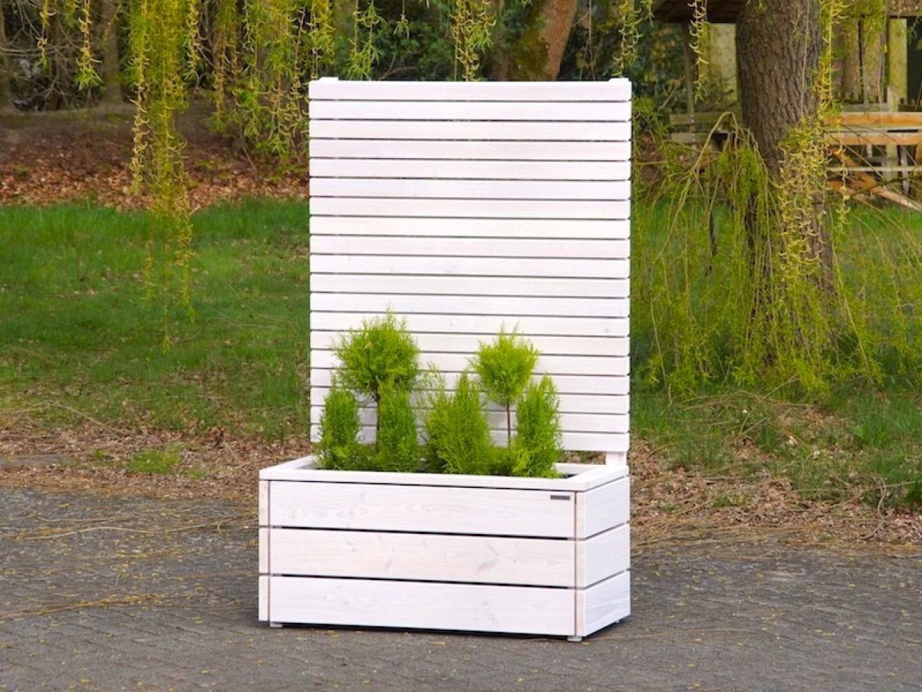 pflanzkasten mit sichtschutz heimisches holz made in germany. Black Bedroom Furniture Sets. Home Design Ideas