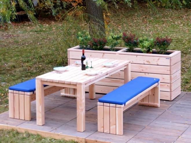 Gartenmöbel Set 3 - Zeitlose Gartenmöbel aus heimischem Holz