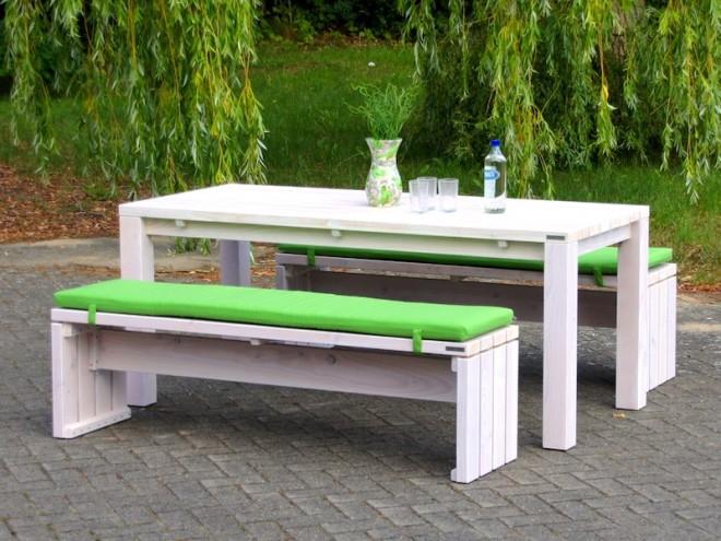 Gartenmöbel Holz Set 3