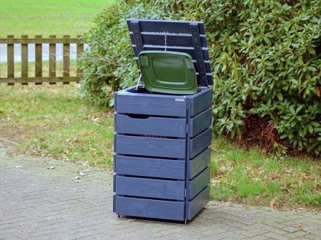 1er m lltonnenbox 120 liter heimisches holz made in germany. Black Bedroom Furniture Sets. Home Design Ideas