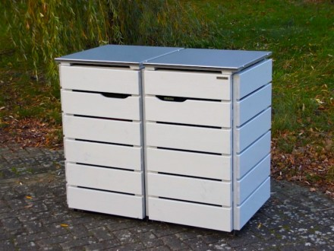 2er m lltonnenbox 120 liter heimisches holz made in germany. Black Bedroom Furniture Sets. Home Design Ideas