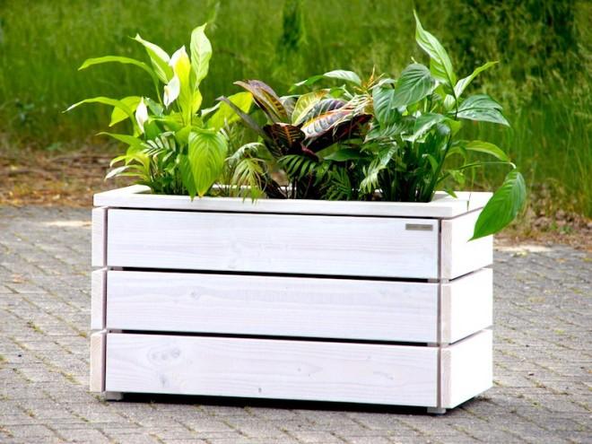 Pflanzkasten mit Pflanzeinsatz - heimisches Holz - Made in Germany