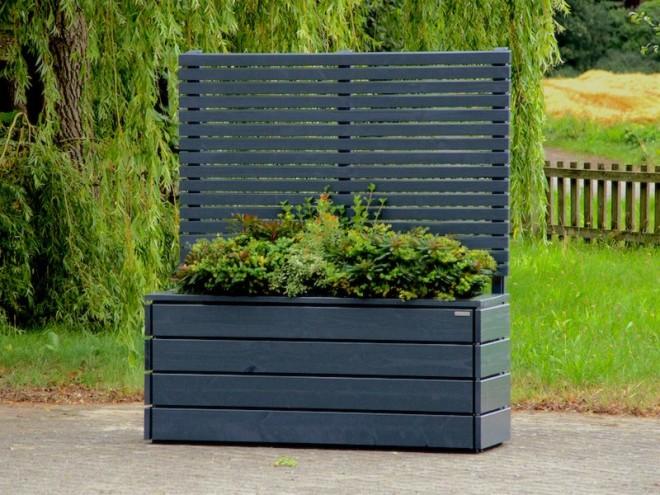 Pflanzkasten mit Rankgitter - heimisches Holz - Made in Germany