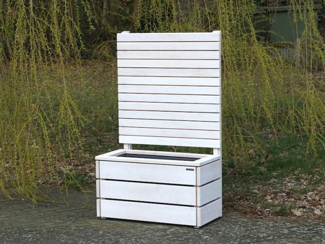 Pflanzkasten mit Sichtschutz - heimisches Holz - Made in Germany