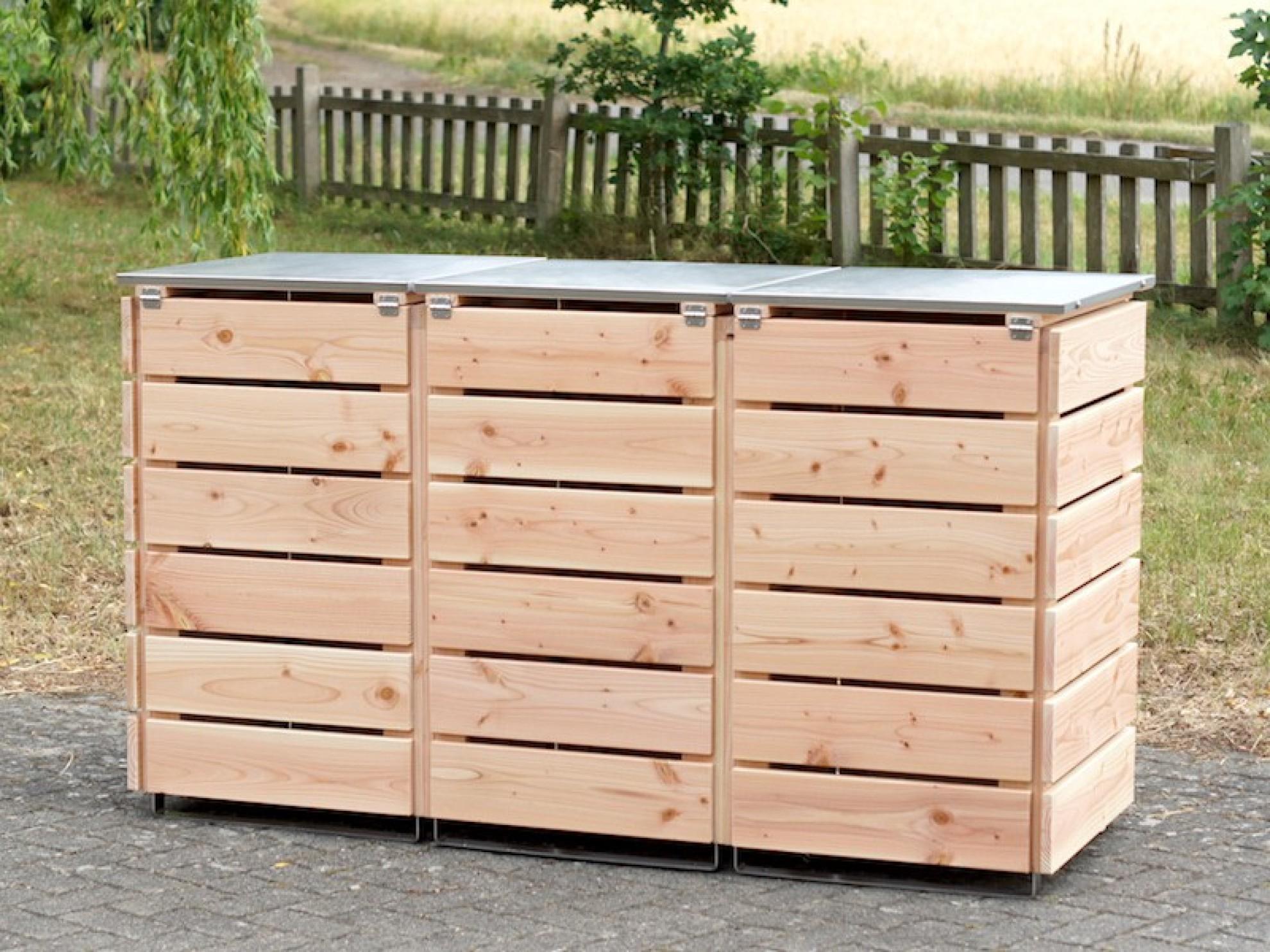 3er m lltonnenbox 120 liter heimisches holz made in germany. Black Bedroom Furniture Sets. Home Design Ideas