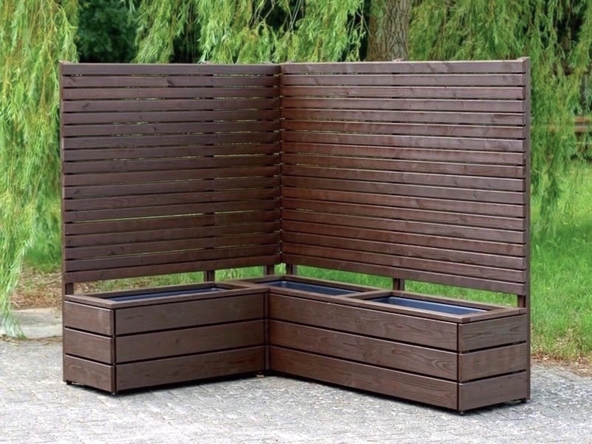 pflanzkasten ecke mit sichtschutz heimisches holz made in germany. Black Bedroom Furniture Sets. Home Design Ideas